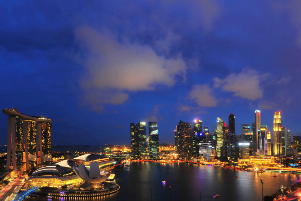 Singapore Night Walk #1: Marina Bay